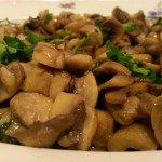 Assiette de champignons