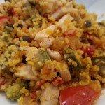 Légumes et couscous poulet