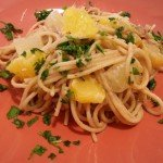 Espaguetis con anchoas y cítricos