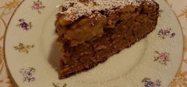 Torta  di castagne e mele (Gluten Free)