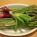 Asparagi e cipolle rosse di tropea