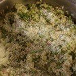 Parmiggiano su riso e asparagi
