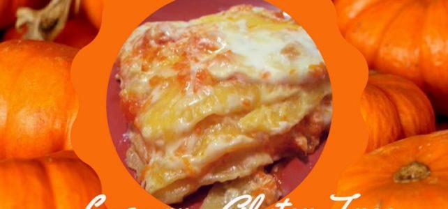 Lasagne: Zucca e Scamorza Affumicata. Gluten Free
