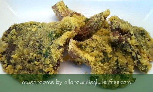 Pleurotus Gratinati Al Forno. Gluten Free.