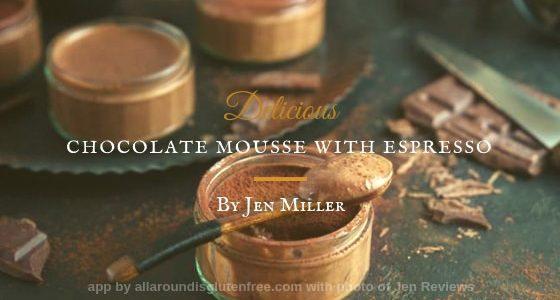 Mousse al Cioccolato Fondente con Espresso.