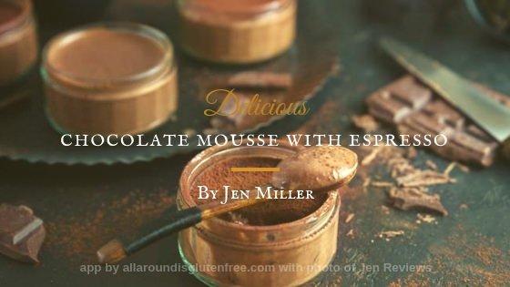 Mousse de chocolate negro con café Espresso