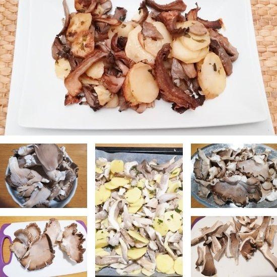 Pleurotus et pommes de terre ne