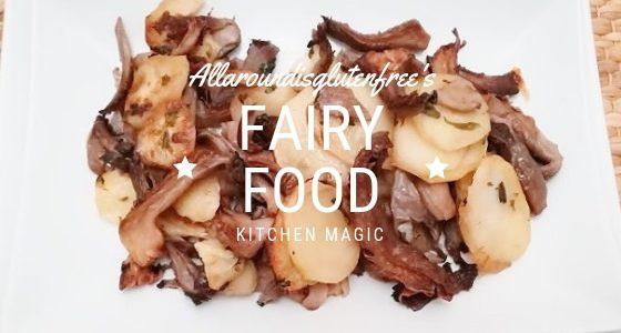 Funghi Pleurotus e Patate al Forno