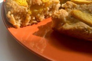 Torta di Avena e Pesche. Gluten Free